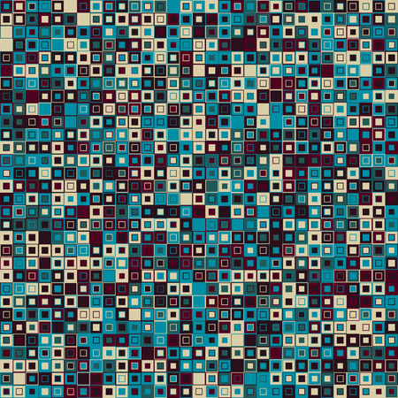 interconnected: Vector abstract background. Consists of geometric elements. The elements have a square shape and different color. Colorful mosaic background. Useful as design element for texture and artistic compositions.