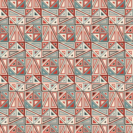 ecru: Vector seamless pattern. Consists of geometric elements.The elements have a triangular shape and different color. Useful as design element for texture, pattern and artistic compositions. Illustration
