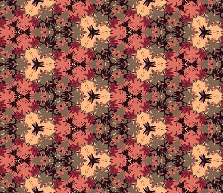 brown design: Vintage seamless pattern. Seamless pattern composed of color abstract elements. Useful as design element for texture, pattern and artistic compositions. Vector illustration. Illustration