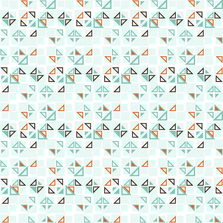 ecru: Vector seamless pattern. Consists of geometric elements on a white background. The elements have a triangular shape and different color. Useful as design element for texture, pattern and artistic compositions.