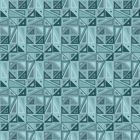interconnected: Vector seamless pattern. Consists of geometric elements.The elements have a triangular shape and different color. Useful as design element for texture, pattern and artistic compositions. Illustration