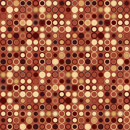 hazel: Vector seamless pattern. Consists of geometric elements arranged on hazel background.The elements have a circular shape and different color. Useful as design element for texture, pattern and artistic compositions. Illustration