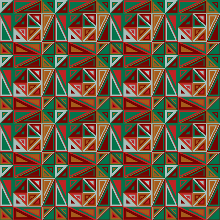 triangular shape: Vector seamless pattern. Consists of geometric elements.The elements have a triangular shape and different color. Useful as design element for texture, pattern and artistic compositions. Illustration