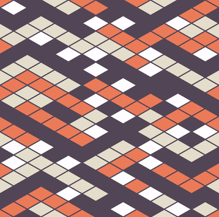interconnection: Vector seamless pattern. Geometric seamless pattern. Mosaic seamless pattern. Useful as design element for texture, pattern and artistic compositions.
