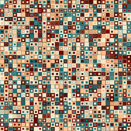 mosaic background: Vector abstract background. Consists of geometric elements. The elements have square shape and different color. Colorful mosaic background. Useful as design element for texture and artistic compositions. Illustration
