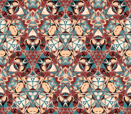 compositions: Kaleidoscope seamless pattern. Composed of color abstract elements. Useful as design element for texture, pattern and artistic compositions.