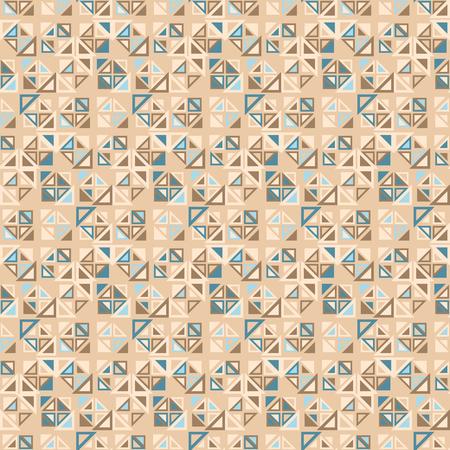 Patrón sin fisuras. Se compone de elementos geométricos de una forma triangular con un color diferente. El fondo tiene un color marrón claro color.Useful como elemento de diseño para la textura y composiciones artísticas.