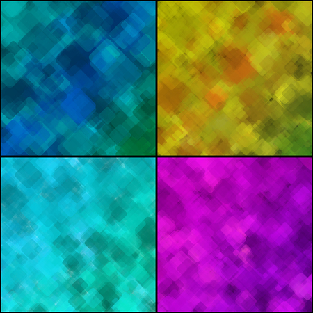 medley: Set of Abstract Geometrical Multicolored Backgrounds