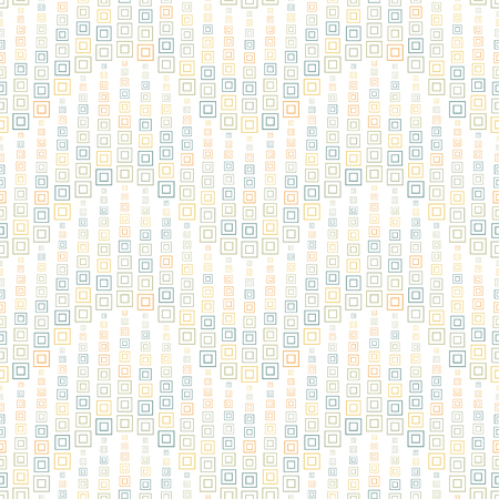 Seamless pattern on a white background. Has the shape of a wave. Consists of through geometric elements in color. Useful as design element for texture and artistic compositions.