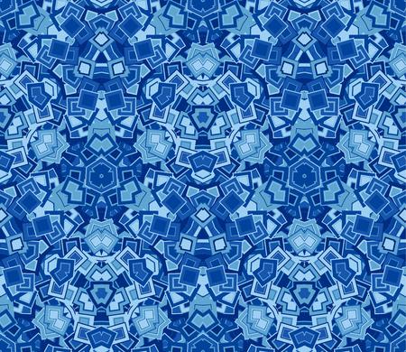 Azul sin patrón abstracto, fondo. Compuesto de formas geométricas de colores. Útil como elemento de diseño para texturas y composiciones artísticas.