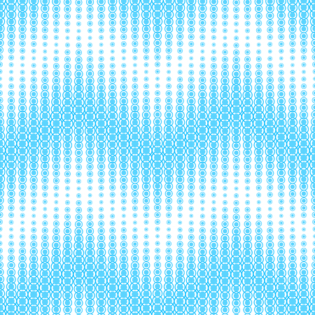 Seamless pattern on a white background. Has the shape of a wave. Consists of geometric elements of a round shape in blue.