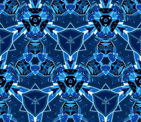 Kaleidoscope abstract seamless pattern Vectores