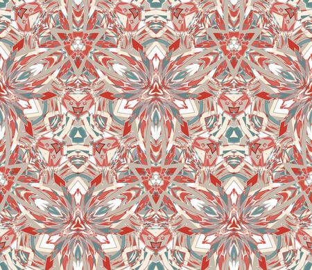 Kaleidoscope abstract seamless pattern Çizim