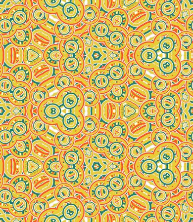 Kaleidoscope seamless pattern. Colored abstraction on white background.