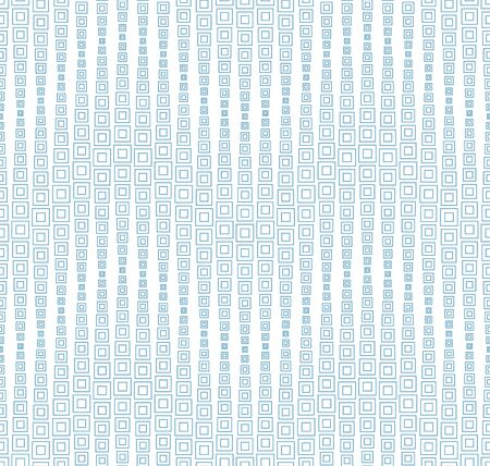 Seamless pattern on a white background. Has the shape of a wave. Consists of through geometric elements. Vecteurs