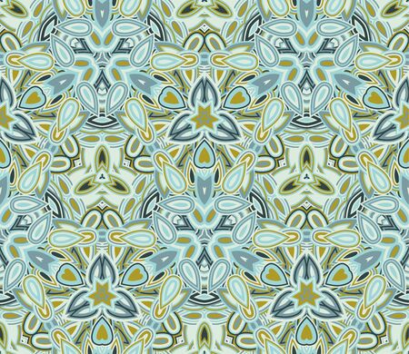 Kaleidoscope seamless pattern, background. Abstract shapes.