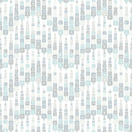 Seamless pattern on a white background. Consists of through geometric elements. The squares of different sizes and colors.