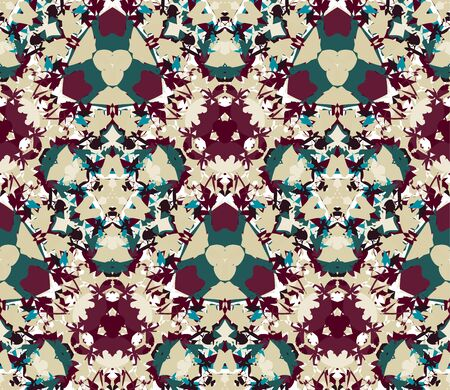 Vintage seamless pattern. Seamless pattern composed of color abstract elements located on white background.