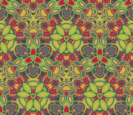 Colorful abstract seamless pattern, background. Composed of colored shapes.