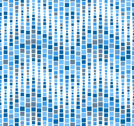 Seamless pattern, background, texture. Geometric elements, squares. Mosaic. Shades of blue on white. Graphic design element.