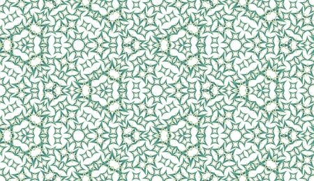 Abstract kaleidoscope seamless pattern. On white background. Useful as design element for texture and artistic compositions.