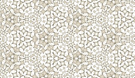 Abstract kaleidoscope seamless pattern. On white background. Useful as design element for texture and artistic compositions. 向量圖像