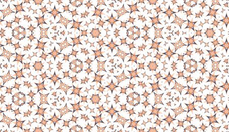 Kaleidoscope seamless pattern. Colored abstraction on white background. Useful as design element for texture and artistic compositions. 向量圖像