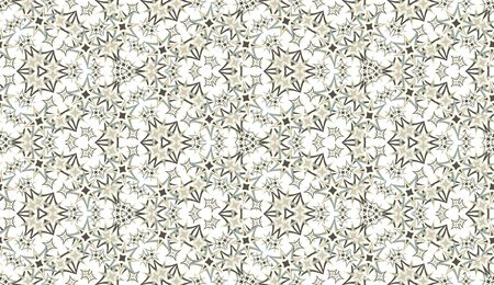 Abstract seamless pattern, background. Vintage colored kaleidoscope on white. Useful as design element for texture and artistic compositions.