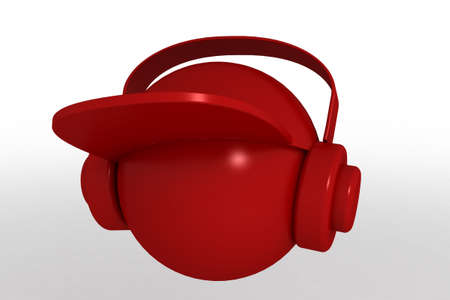 3d model head dj. made in 3ds max photo