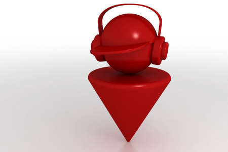 3d model boy and headphones. Made in 3ds max photo