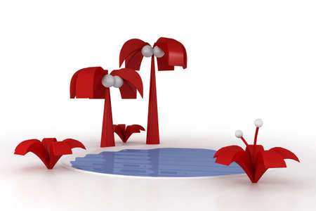 3ds: 3d model nature. Made in 3ds max
