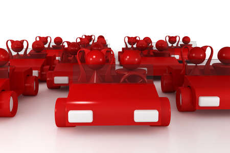 3ds: 3d model cars. made in 3ds max Stock Photo