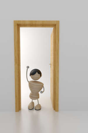 novice: A child in doors waves a hand