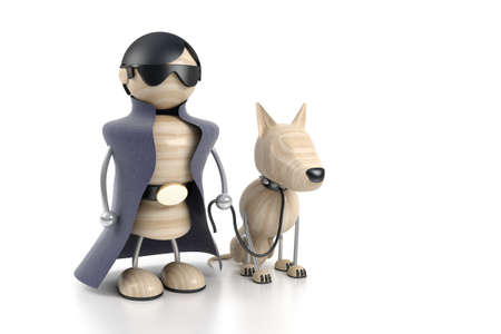 sniffer: detective with a dog. searching works