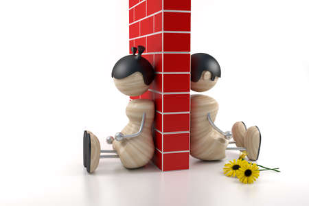 boy and girl - problems Stock Photo - 1650197