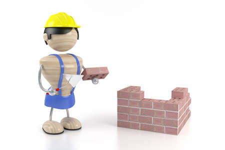 constructor and brick Stock Photo - 1650216
