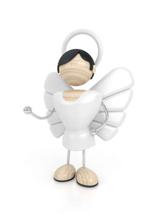 angel 3d model Stock Photo - 2331068