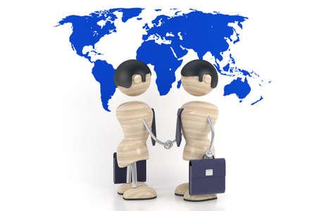 business handshake, 3d model