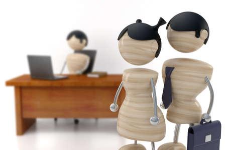 subsidiary: teamwork 3d model DEPTH OF FIELD Stock Photo