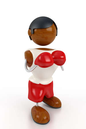 sprightly: boxing afro man