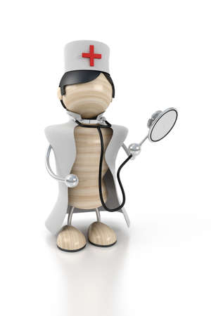doctor stands with the stethoscope Stock Photo - 2331226