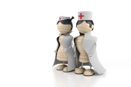 hospital gown: hospital nurse and doctor Stock Photo