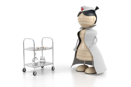 hospital nurse 3d model
