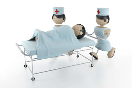 operation gown: hospital 3d model Stock Photo