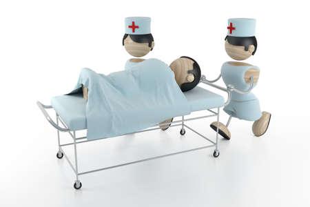 hospital 3d model Stock Photo