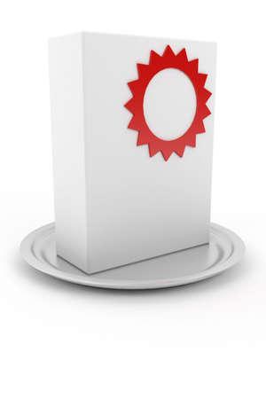 ebox: abstract empty box Stock Photo