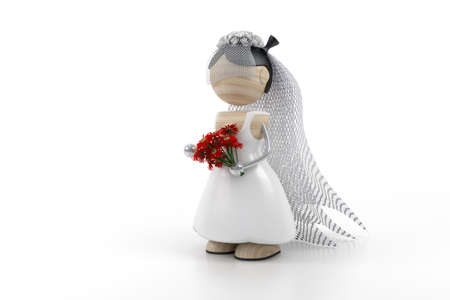 spousal: bride and flovers