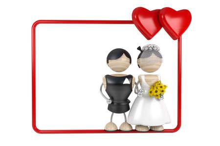 spousal: wedding frame 3d model