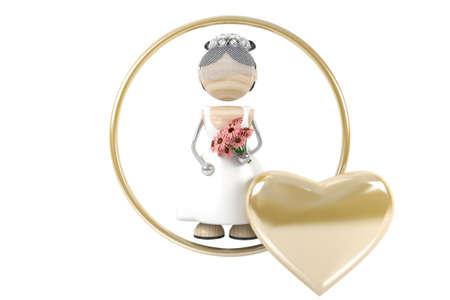spousal: wedding. Bride 3d model