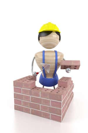 paredes de ladrillos: ladrillo de la construcci�n